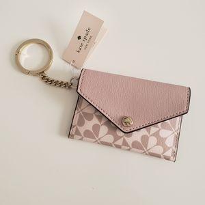 NWT Kate Spade Pink Cardholder Key Fob/Bag Charm